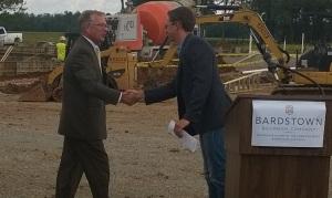 Bardstown Bourbon handshake closeup